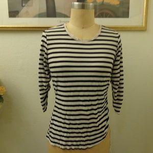 Rozae Nichols Black and White Striped Top